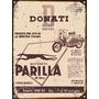 Cartel Chapa Publicidad Antigua Motoneta Parrilla 150cc X295