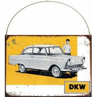 Cartel Chapa Publicidad Antigua Dkw Auto Union Y202