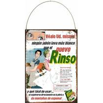 Chapa Vintage Publicidad Antigua Jabon En Polvo Rinso L633