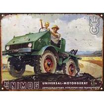 Cartel Chapa Publicidad Antigua Unimog X297