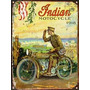 Cartel Chapa Publicidad Antigua Moto Indian 1918 L231