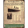 Cartel De Chapa Vintage Retro Titanic New York Times L336
