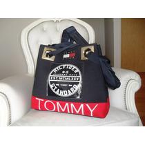 Cartera Tommy Hilfiger Logo Charol, Modelo Exclusivo Colores