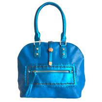 Cartera Riviera Azul Trendy Al Hombro Cuero Sintetico Mujer