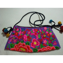 Cartera/bolso Bordado, Flores. Hippie Chic!