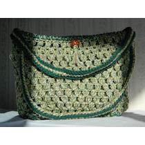 Cartera Artesanal Al Crochet + Organizador De Cartera