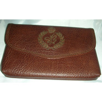 Monedero /clutch /billetera De Cuero Marron Vintage
