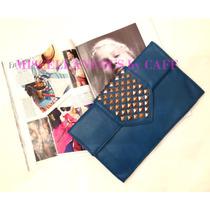 Cartera Clutch Azul Petroleo, Miscellaneous By Caff