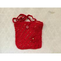 Cartera Tejida A Mano Al Crochet
