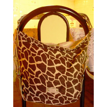 Bolso Xl Animal Print Impecable !