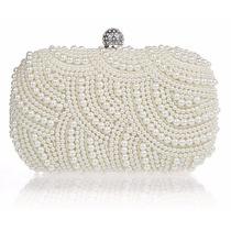 Sobre Cartera Clutch De Fiesta Con Perlas. Imperdible!!!