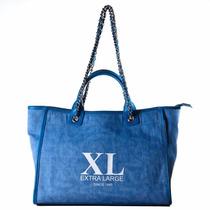 Xl Extra Large Ixum Tote Azul Cartera Para Mujer.