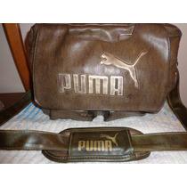 Morral Marca Puma Original De Cuero Ecologico