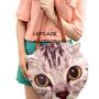 Cartera Lolita Animal Gatito Cara Gato Bolso Japon Morral