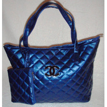 Cartera Importada - Color Azul Zafiro Super Amplia - Divina!