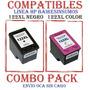 Pack Dual Hp # 122xl /122xl Compatibles Neg/col X Juego