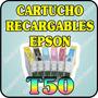 Cartuchos Recargables Para Epson T50 R290 R270 1410 Sin Tint