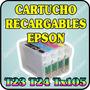 Cartuchos Recargables Para Epson T24 Tx105 Tx115 Sin Tinta
