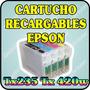 Cartuchos Recargables Para Epson Tx235 Tx420w Sin Tinta