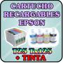 Cartuchos Recargables Para Epson T25 Tx125 Tx135con Tinta