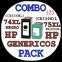 Compatibles Hp 74xl +75xl Pack Neg+color