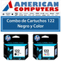 Combo De Cartuchos Hp 122 Negro + Color 3050 2050 Original