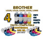 Tinta Brother Lc-105 Lc-103 Lc-123 Generica 4 Colores X250ml