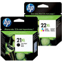 Combo Cartucho Hp 21xl C9351cl Negro + Hp 22xl C9352cl Color