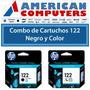 Combo De Cartuchos Hp 122 Negro + Color 3050 2050 Original