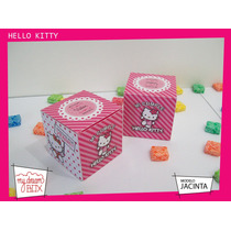 Souvenir Evento Cumpleaños Caja Personalizada Hello Kitty