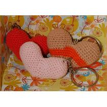 Llaveros Corazon Artesanales Tejidos Al Crochet