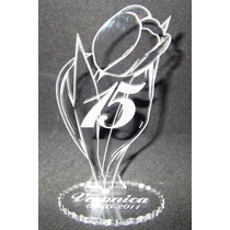 Souvenir Para 15 Años En Forma De Flor C/nombre Y Fecha Grab