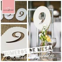 Numeros De Mesa Casamiento /boda Del 1 Al 20