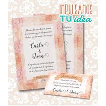 Invitación De Boda Para Imprimir - Tarjeta Y Personal Carla