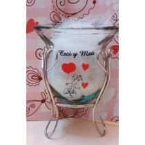 Souvenirs Mates De Vidrio Casamiento Personalizados