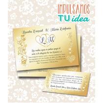 Tarjeta De Boda Para Imprimir - Invitación Y Personal L Y M