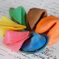 50 Galletas De La Fortuna Personalizadas De Colores Navidad