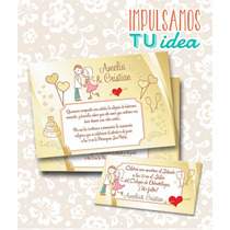 Tarjeta De Boda Para Imprimir - Invitación Y Personal A Y C