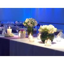 Centros De Mesa / Flores Y Velas