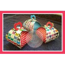 Souvenir Cajita Carton Decorada Casamiento Nacimiento