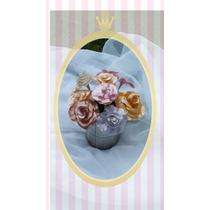 Souvenir Rosa Vintage En Porcelana Fría 15 Años Casamientos