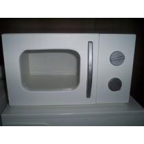 Microondas De Madera - Artesanal - Cocinas Infantiles