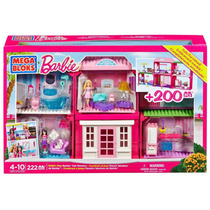 Fabulosa Mansión Barbie P/armar 222 Piezas Mega Bloks Video