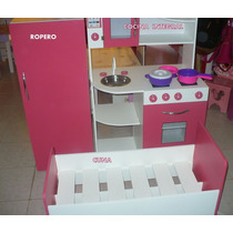 Rincon De Juego Infantil Cocina Dormitorio Camita Ropero Luz