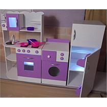 Cocinita Juguete Mueble Infantil Juego De Cocina Luz Casita