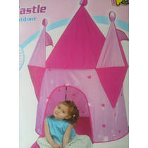 Castillo Princesas Rosa Carpa Plegable Pelotero Casita Iplay