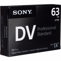Cassette Mini Dv Sony Premium Pack Caja X5 Unidades Dvm63ps