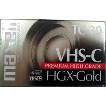 Cassette Video Vhs-c Maxell Tc-30 Hgx-gold