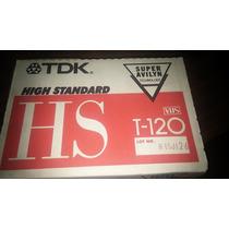 Cassette Vhs T-120 Marca Tdk Nuevos En Caja Cerrada