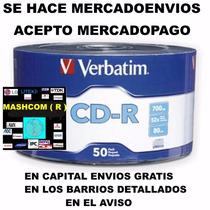 Cd Virgen Verbatim X 50 ( Se Hace Mercadoenvios )